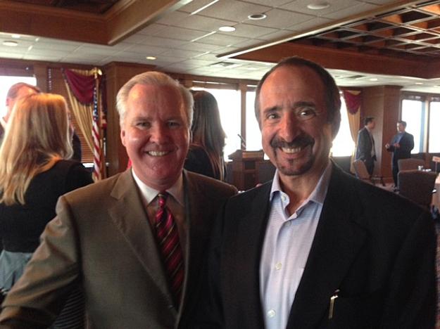 Tampa Mayor Bob Buckhorn and Sanford Mahr